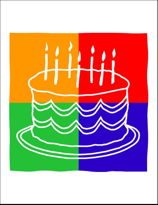 "8½"" x 11"" T-Shirt-Tranfers - Birthday Cake"