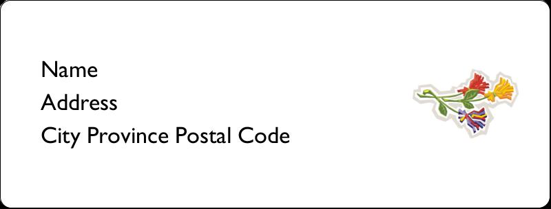"1"" x 2⅝"" Address Label - Three Flowers"