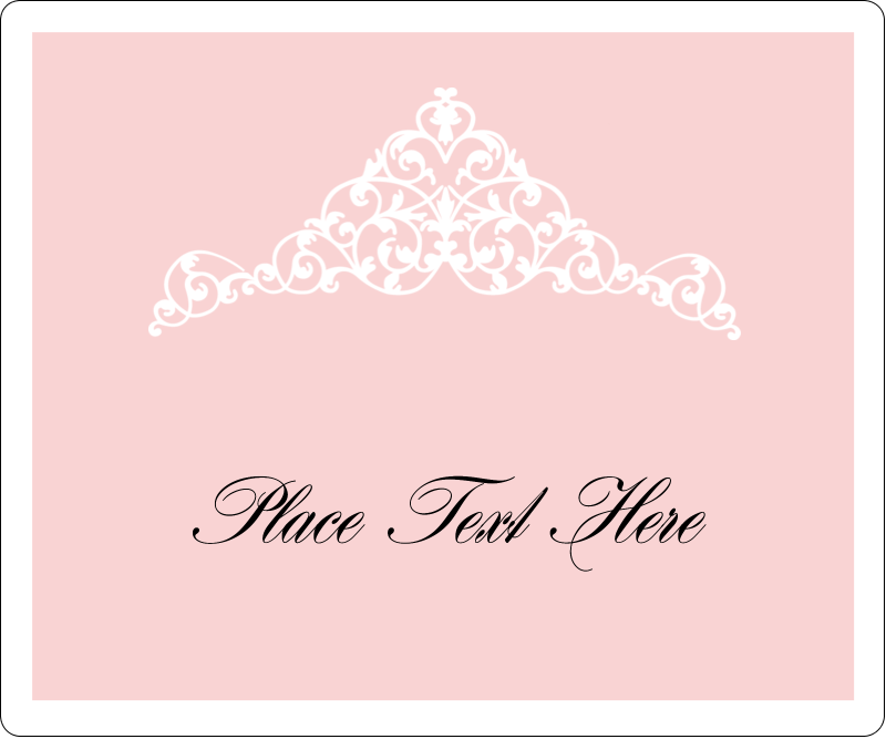 "3⅓"" x 4"" Shipping Label - Pink Tiara"
