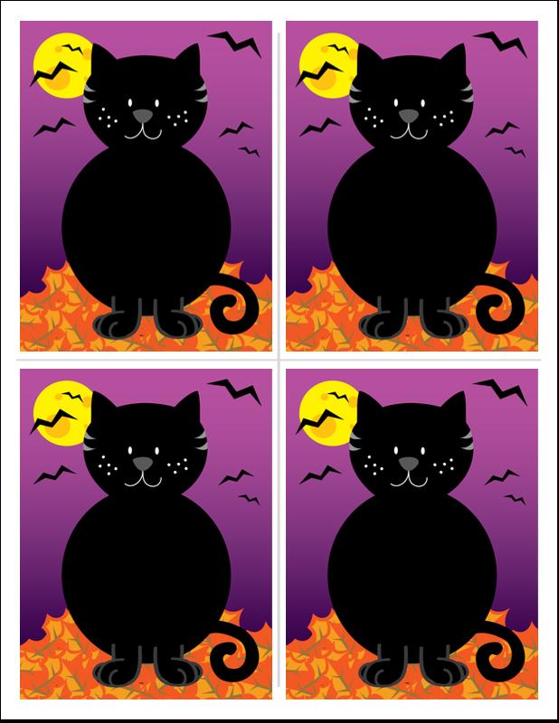 """8½"""" x 11"""" T-Shirt-Tranfers - Black Cat Halloween"""