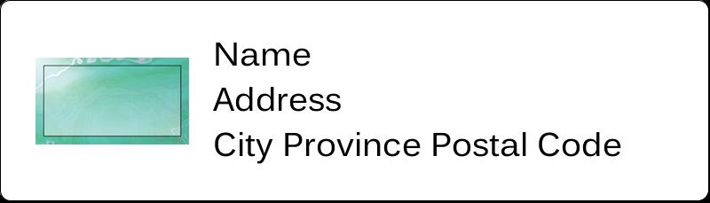 "½"" x 1¾"" Address Label - Agate"