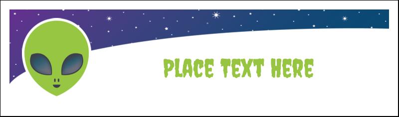 """2½"""" x 8½"""" Tent Card - Alien Party"""