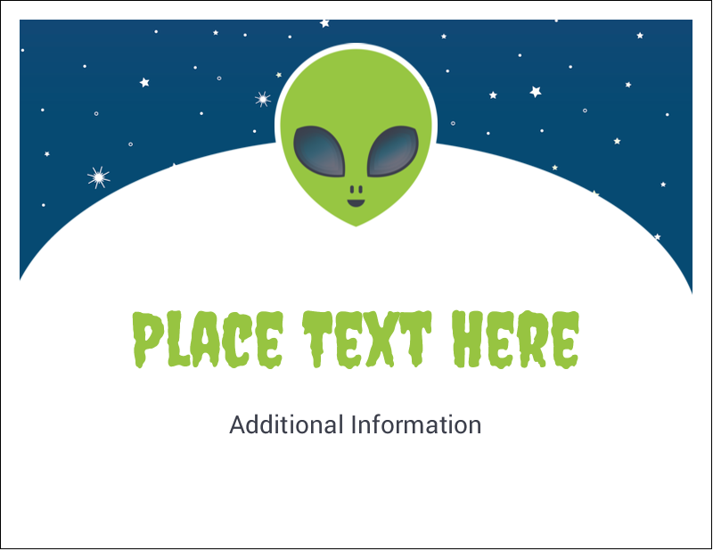 "5½"" x 4¼"" Note Card - Alien Party"