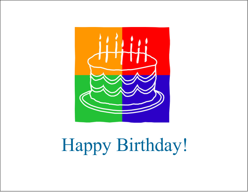 "5½"" x 4¼"" Note Card - Birthday Cake"