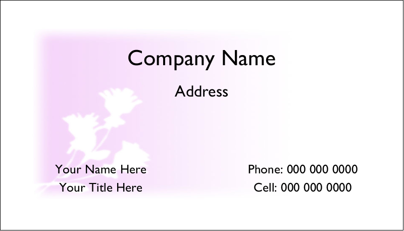 "2"" x 3½"" Business Card - Three Flowers"
