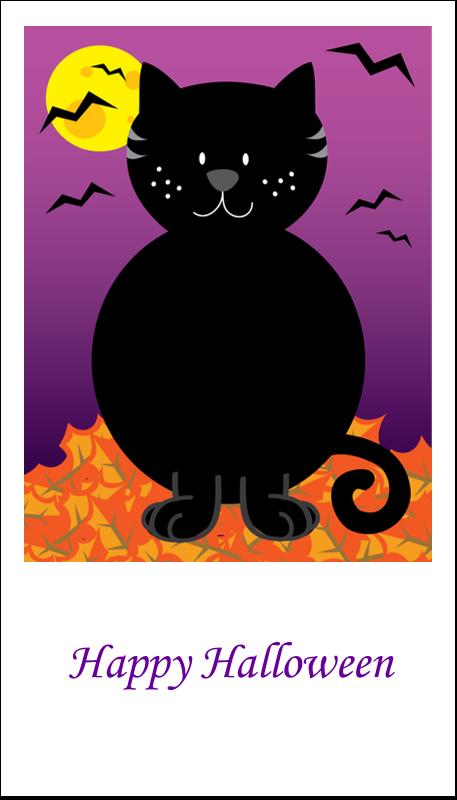 "3½"" x 2"" Business Card - Black Cat Halloween"