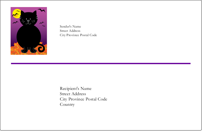"5½"" x 8½"" Shipping Label - Black Cat Halloween"