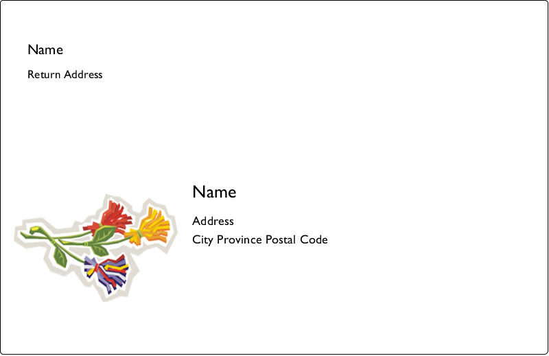 "5½"" x 8½"" Shipping Label - Three Flowers"