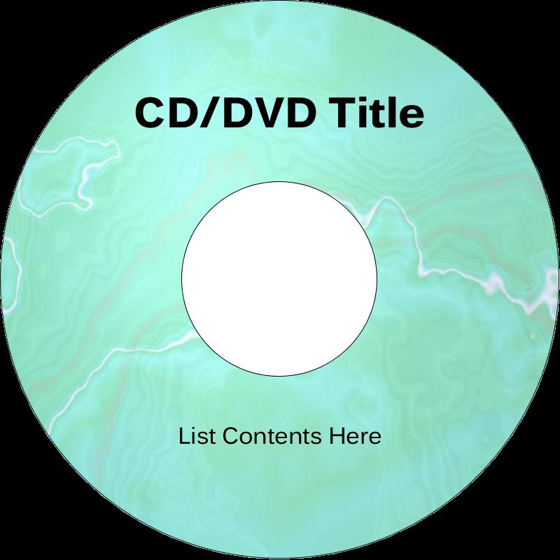 "4.65"" CD-DVD Label - Agate"