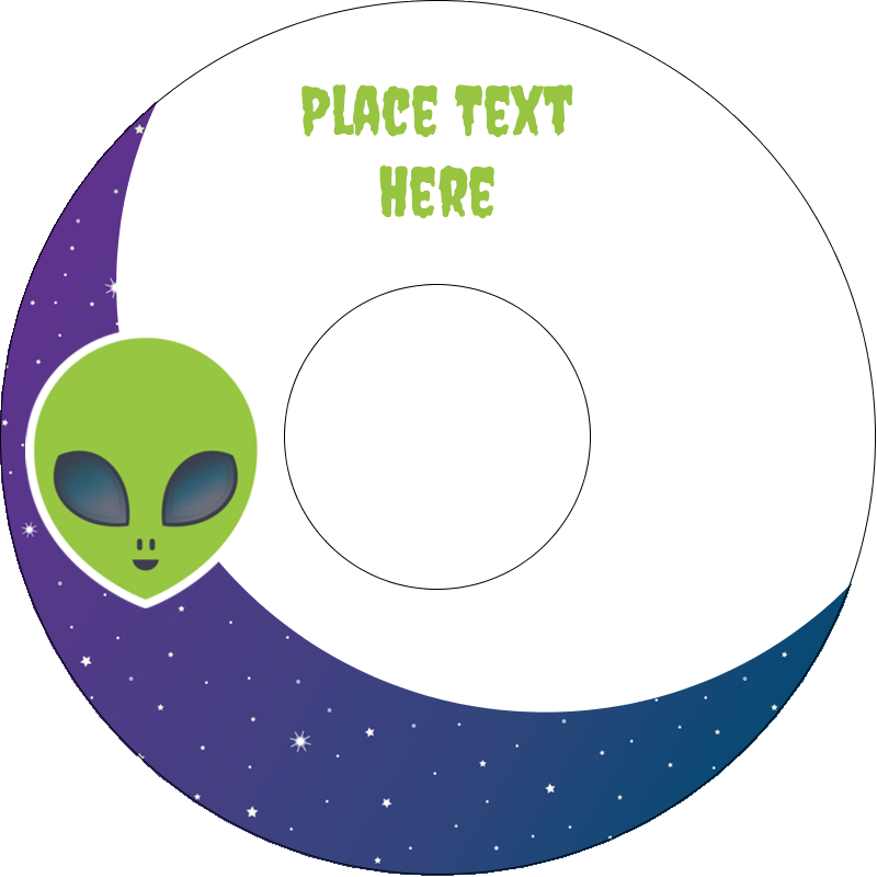"4.65"" CD-DVD Label - Alien Party"