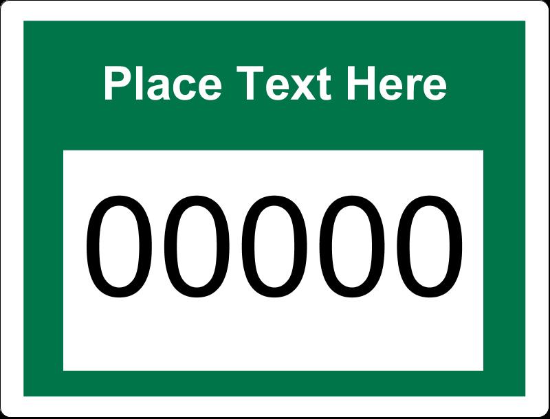 "2⅝"" x 2"" ID Label - Bin Numbers"