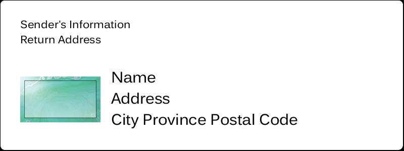 "1½"" x 4"" Address Label - Agate"