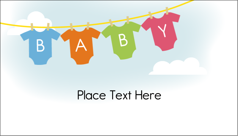 "2"" x 3½"" Business Card - Baby Onesies"