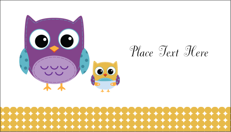 """2"""" x 3½"""" Business Card - Baby Owl"""
