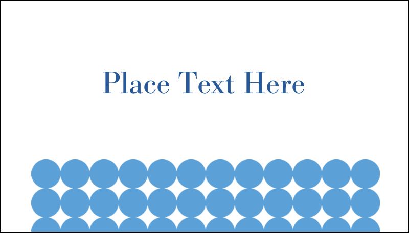 "2"" x 3½"" Business Card - Blue Circles"