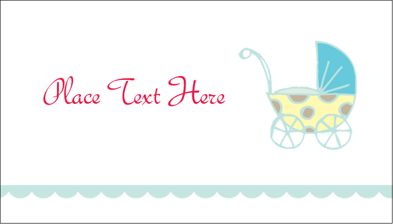"2"" x 3½"" Business Card - Baby Stroller Blue"