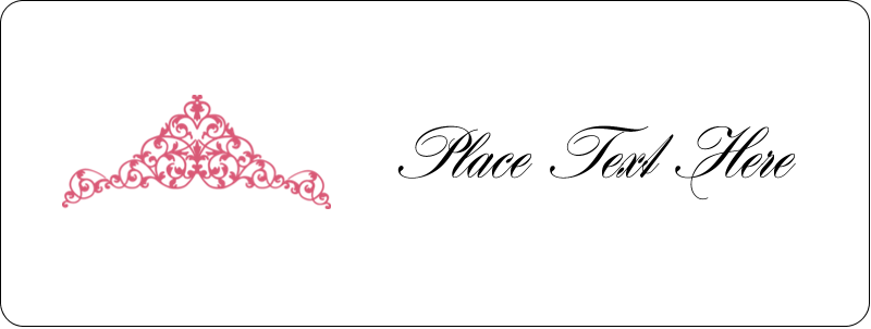 "⅔"" x 1¾"" Address Label - Pink Tiara"