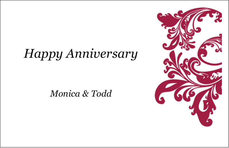 "5½"" x 8½"" Greeting Card - Anniversary"