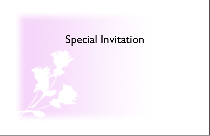 "5½"" x 8½"" Greeting Card - Three Flowers"