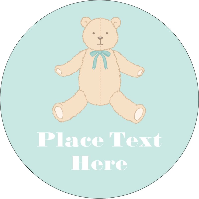 "2½"" Round Label - Baby Teddy Bear"