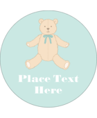 Bring youthful charm to custom projects with pre-designed Baby Teddy Bear templates.