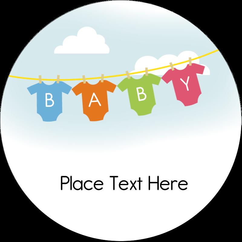 """2"""" Round Label - Baby Onesies"""