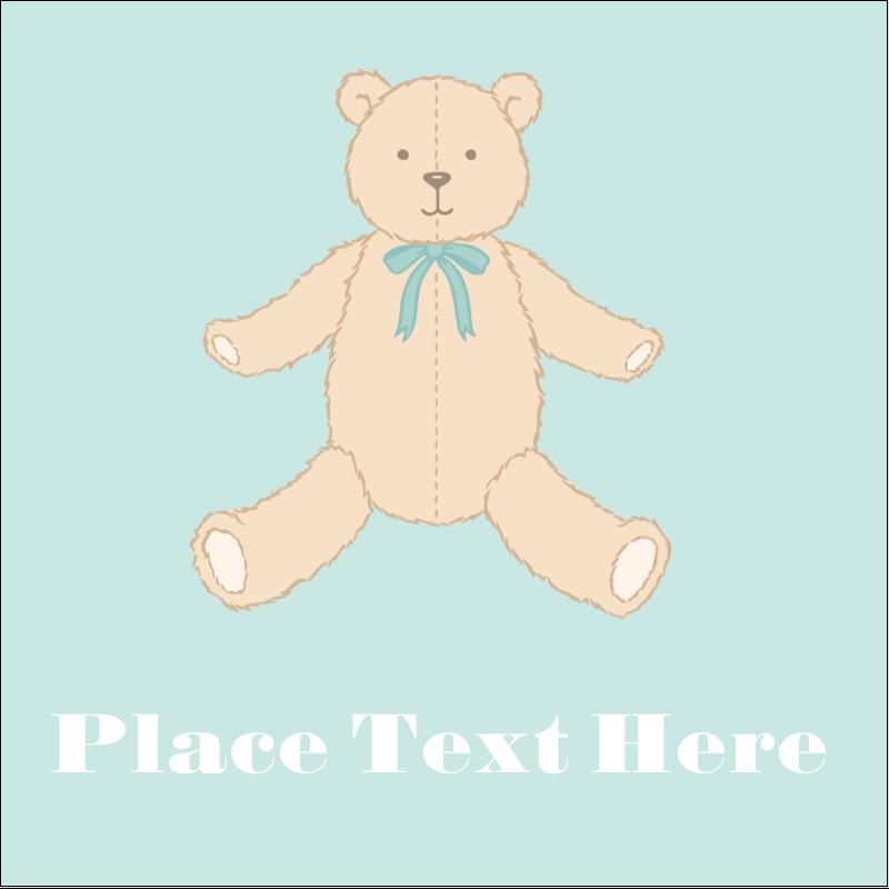 """2"""" x 2"""" Sqaure Label - Baby Teddy Bear"""