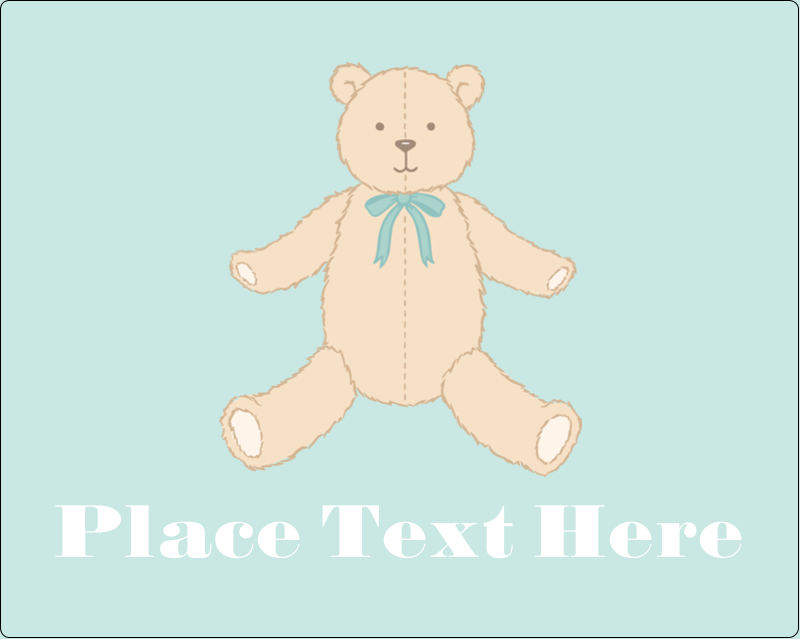 "3"" x 3¾"" Rectangular Label - Baby Teddy Bear"