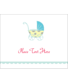Add darling charm to custom projects with pre-designed Baby Stroller Blue templates.
