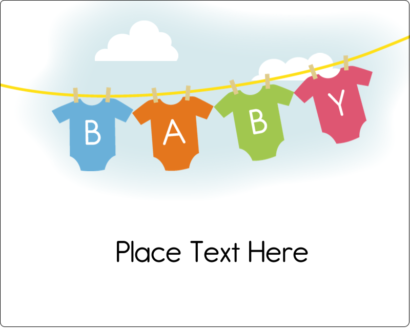 "3"" x 3¾"" Rectangular Label - Baby Onesies"