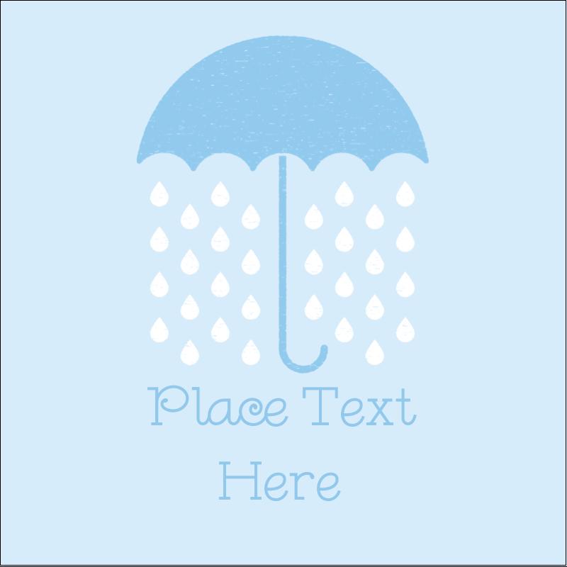 """1½"""" x 1½"""" Square Label - Baby Umbrella"""