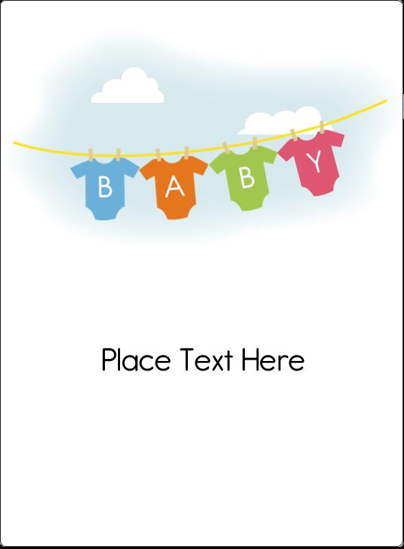 """4¾"""" x 3½"""" Rectangular Label - Baby Onesies"""
