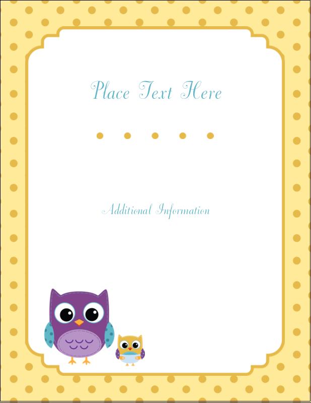 "5½"" x 4¼"" Postcard - Baby Owl"