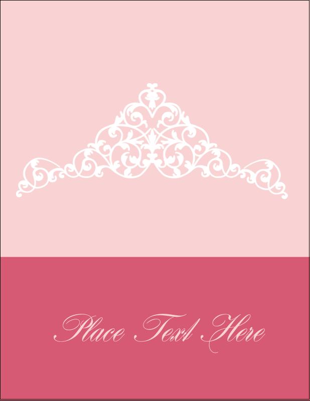 """5½"""" x 4¼"""" Postcard - Pink Tiara"""