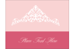 Add pretty elegance to custom projects with printable pre-designed Pink Tiara templates.