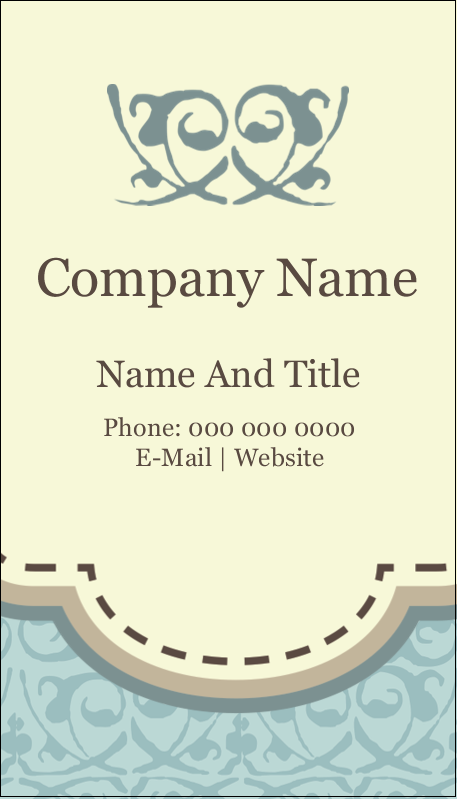 "3½"" x 2"" Business Card - Vintage Green"