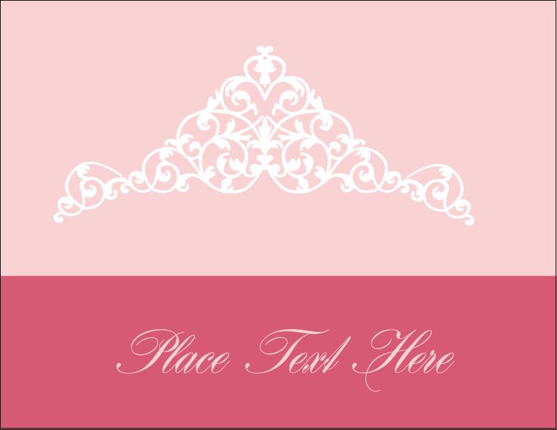 """4¼"""" x 5½"""" Postcard - Pink Tiara"""