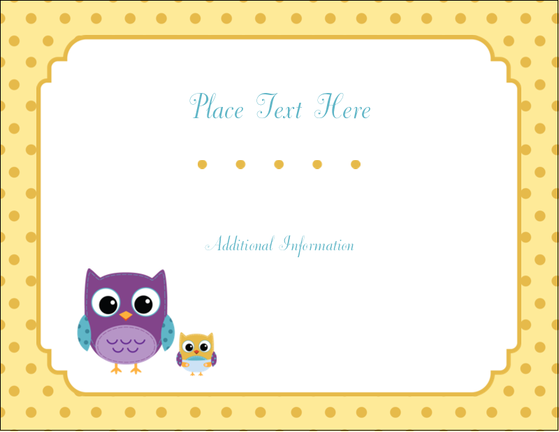 "4¼"" x 5½"" Postcard - Baby Owl"