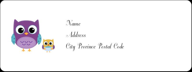 """⅔"""" x 1¾"""" Address Label - Baby Owl"""