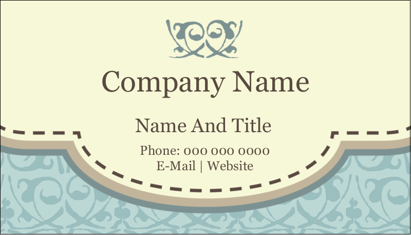 "2"" x 3½"" Business Card - Vintage Green"
