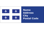 Celebrate French Canada by adorning creative projects with the Fleurdelisé Quebec Flag