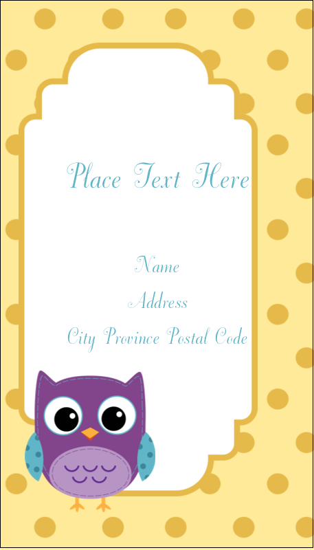 "3½"" x 2"" Business Card - Baby Owl"