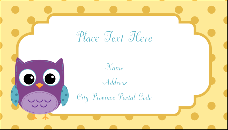 "2"" x 3½"" Business Card - Baby Owl"