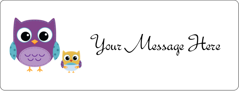 """½"""" x 1¾"""" Address Label - Baby Owl"""