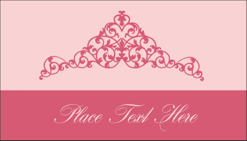 """2"""" x 3½"""" Business Card - Pink Tiara"""