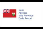 Drapeau de l'Ontario  Cartes d'affaires - gabarit prédéfini. <br/>Utilisez notre logiciel Avery Design & Print Online pour personnaliser facilement la conception.