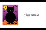 Chatte noire d'Halloween Cartes d'affaires - gabarit prédéfini. <br/>Utilisez notre logiciel Avery Design & Print Online pour personnaliser facilement la conception.