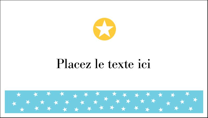 """2"""" x 3½"""" Cartes d'affaires - Étoiles avec tons bleus et jaunes"""