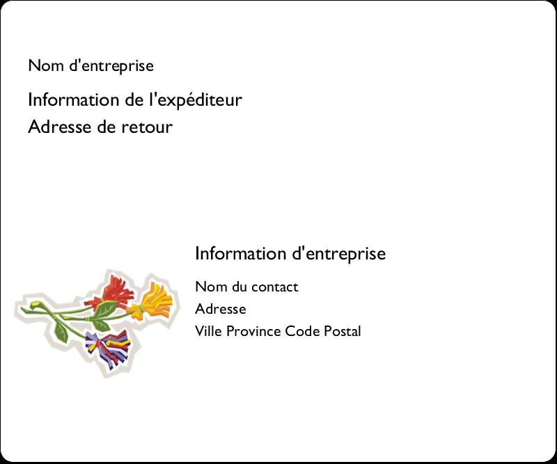 """3⅓"""" x 4"""" Étiquettes d'expédition - Trois fleurs"""
