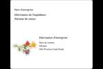 Trois fleurs Étiquettes d'expédition - gabarit prédéfini. <br/>Utilisez notre logiciel Avery Design & Print Online pour personnaliser facilement la conception.